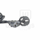 Cable Alimentacion 220v Power PC Monitor Impresoras ups 1,5 mts [Cod. CAB-075]