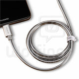 Cable Micro USB Mallado Metalizado Flexible 1 Metro [Cod. CAB-107]