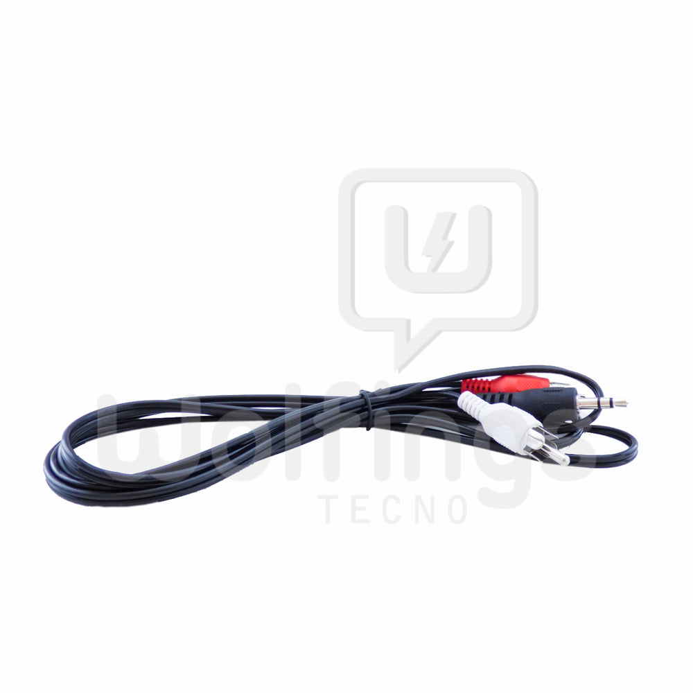 Cable Adaptador Mini Plug 3.5 mm Macho a 2 RCA Audio Macho 1.5 Mts. [Cod. CAB-011]