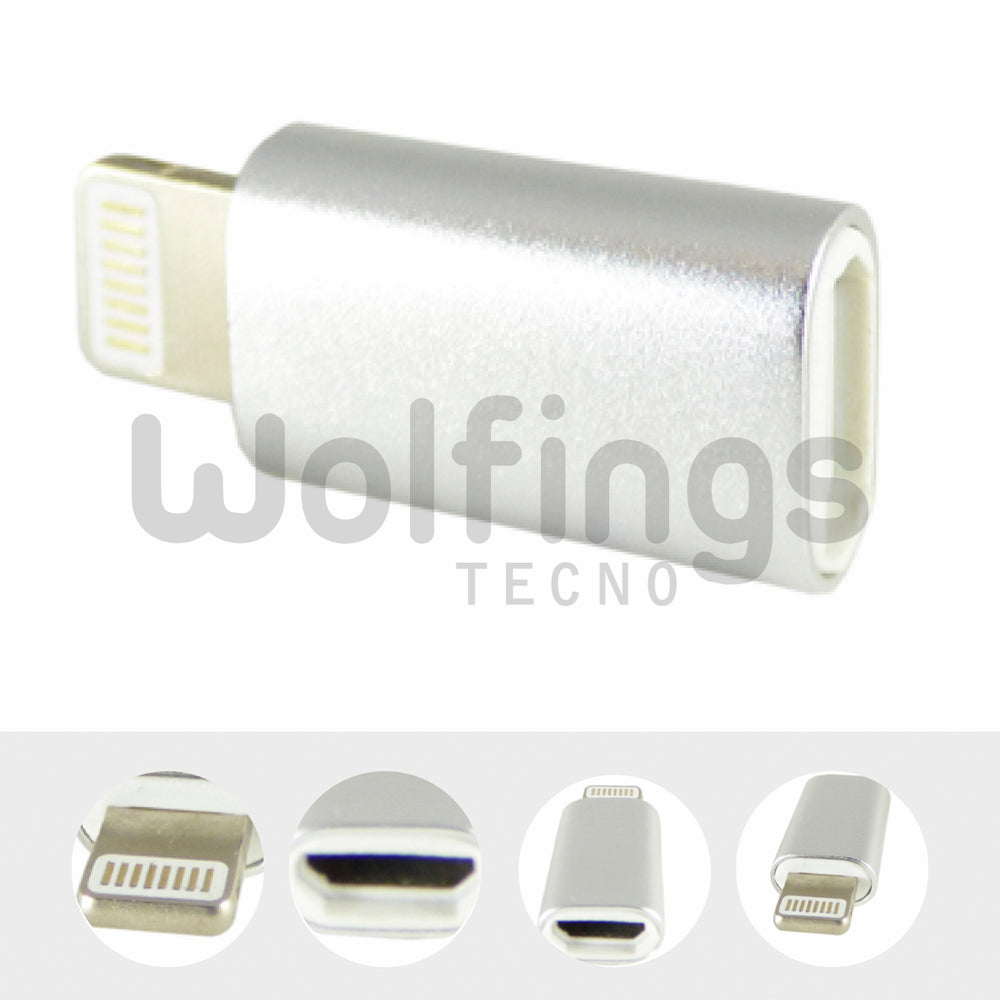 Adaptador Micro Usb Hembra a Lightning de Iphone Ipad Macho [Cod. CON-034]