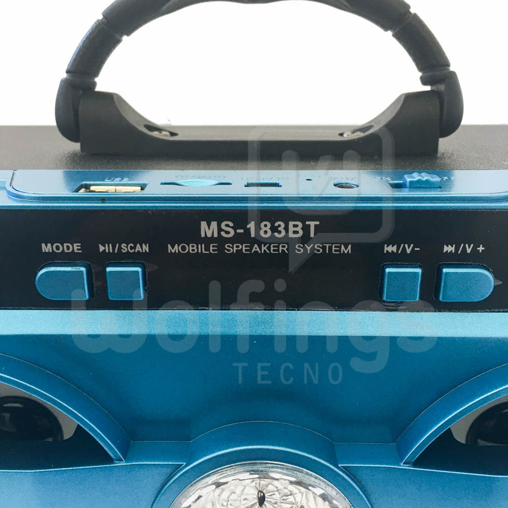 PARLANTE PORTATIL BLUETOOTH RETROILUMINADO MS-183BT [Cod. PAR-025]