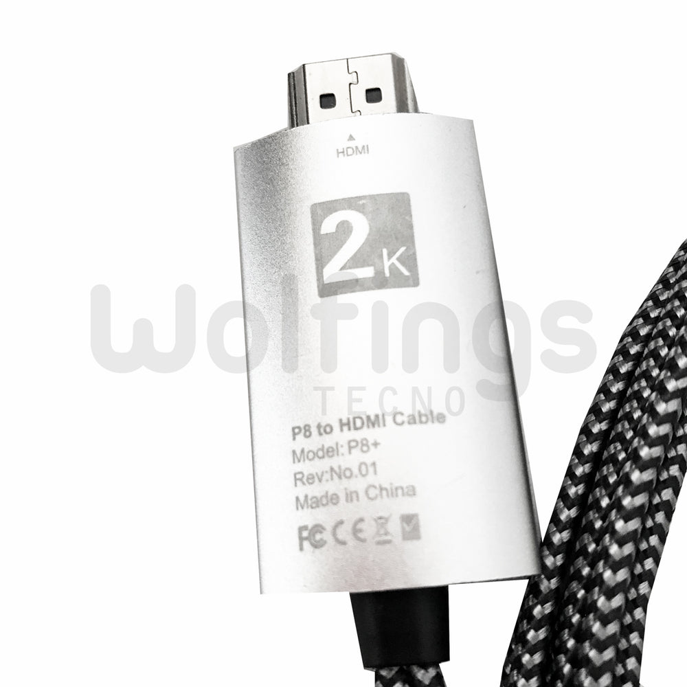 CABLE HDMI + USB A MICRO USB / TIPO C / LIGHTNING CELULARES Y TABLET A TV [Cod. CAB-125]