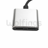 CABLE ADAPTADOR LIGHTNING MACHO A 2 LIGHTNING HEMBRA CARGADOR IPHONE + AURICULAR [Cod. CON-048]