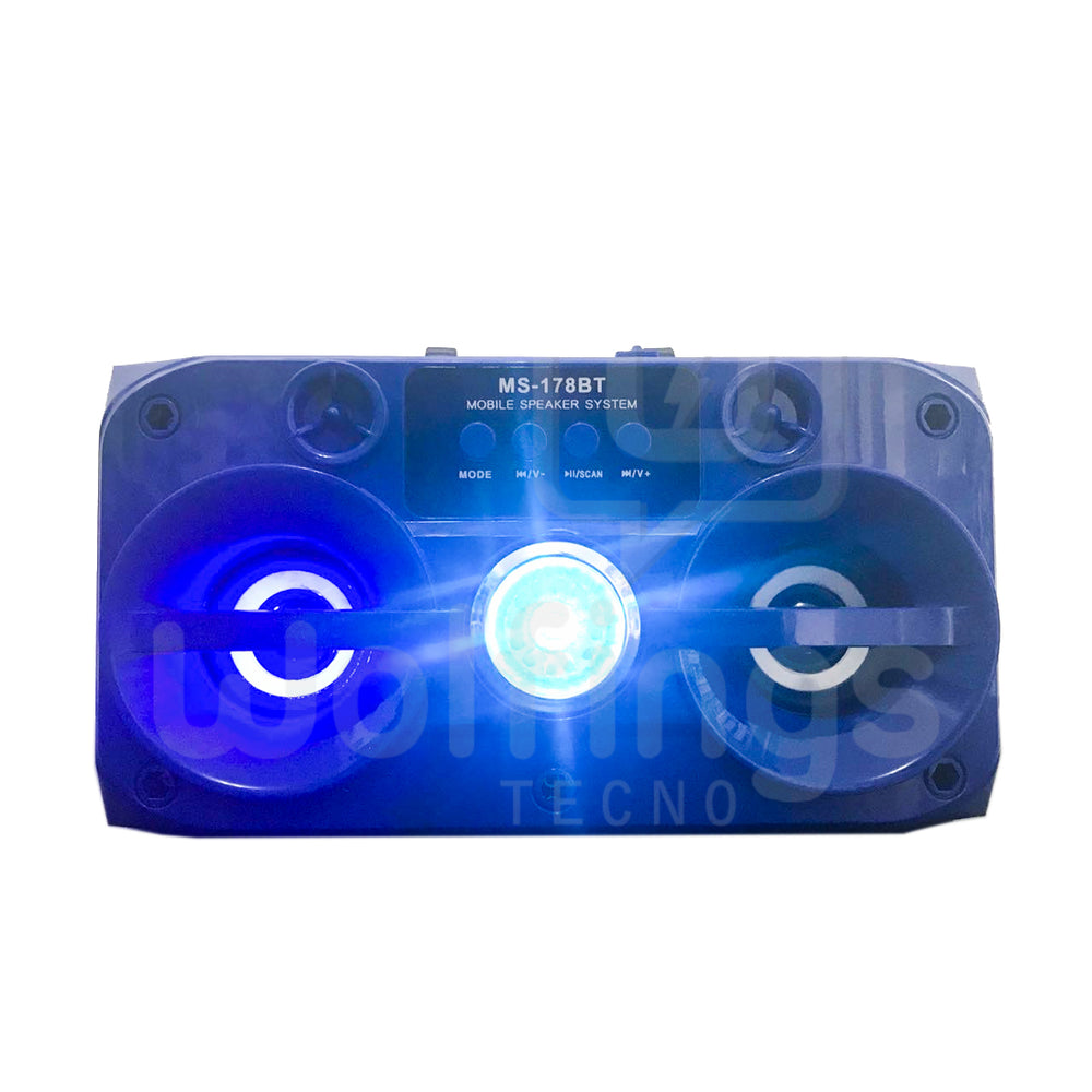 PARLANTE PORTATIL BLUETOOTH RETROILUMINADO MS-178BT [Cod. PAR-023]