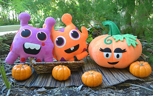 A Cutesy Halloween: Take a Different Approach to Decorating with Plush & Play's Handcrafted Plush Toys