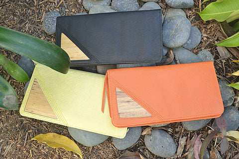 Plant Leather Travel Wallets made of water hyacinth