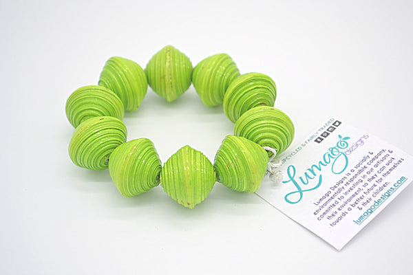 Chunky Bracelet (Bright Green)