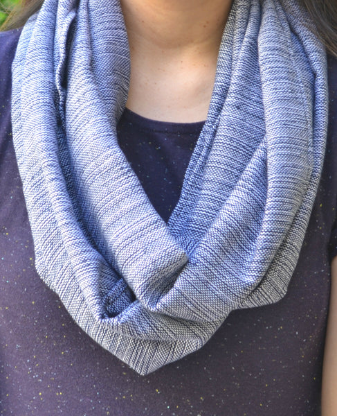 Handwoven Infinity Scarf (Gray)