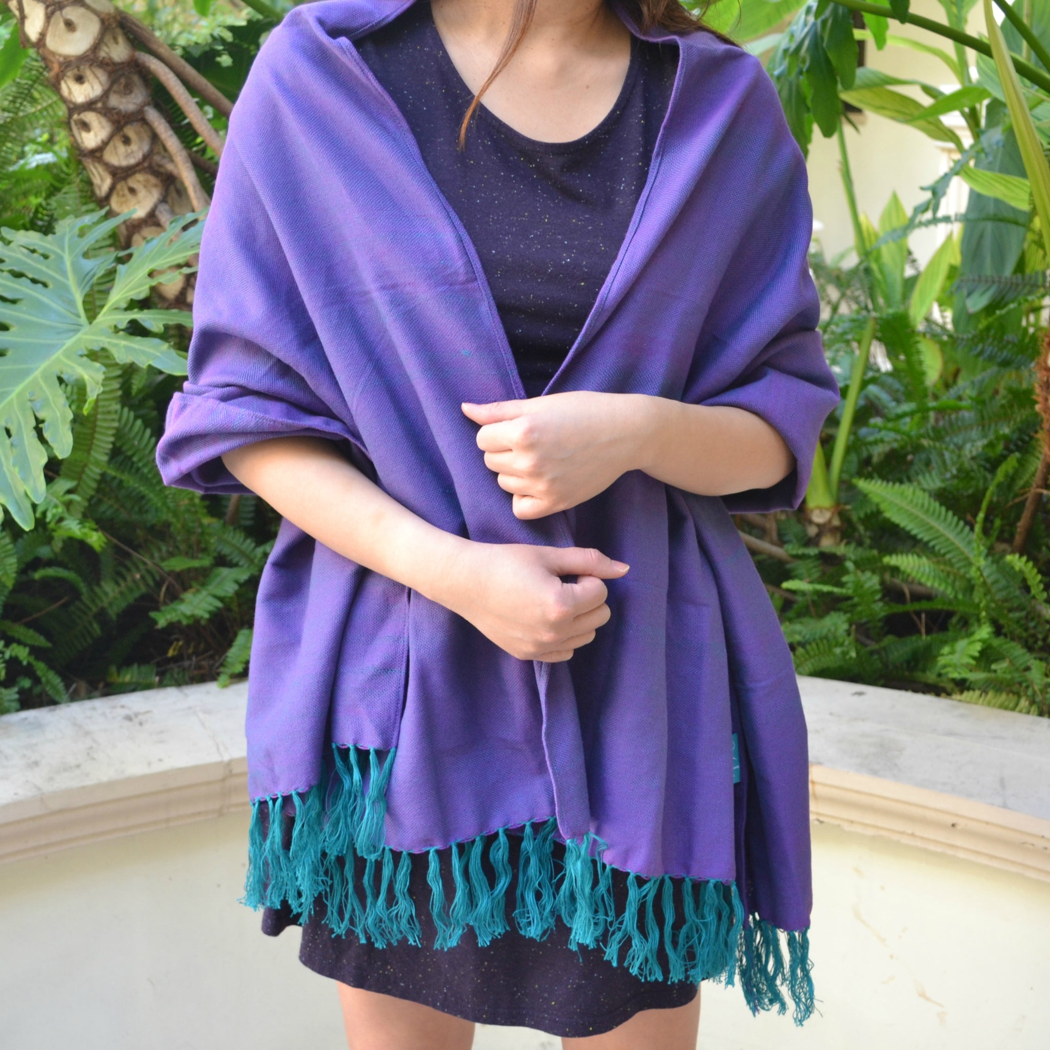 Handwoven Shawl (Purple)