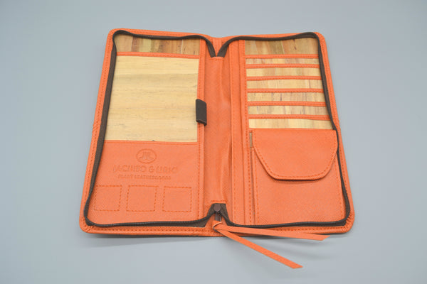 Bucket List Travel Wallet (Orange)