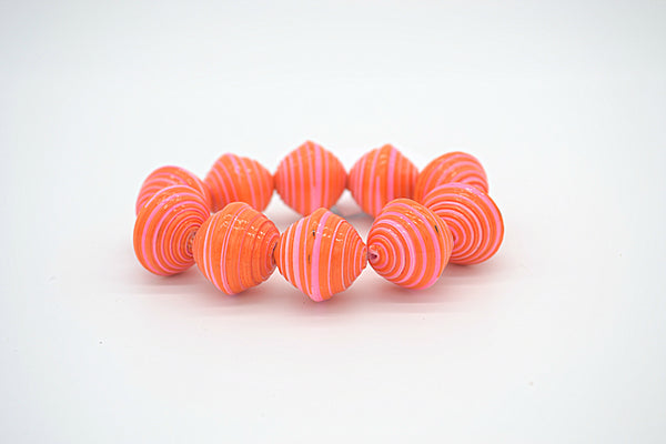 Chunky Bracelet (Bright Orange and Pink)