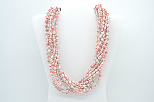 Clarence Necklace (Red with White)