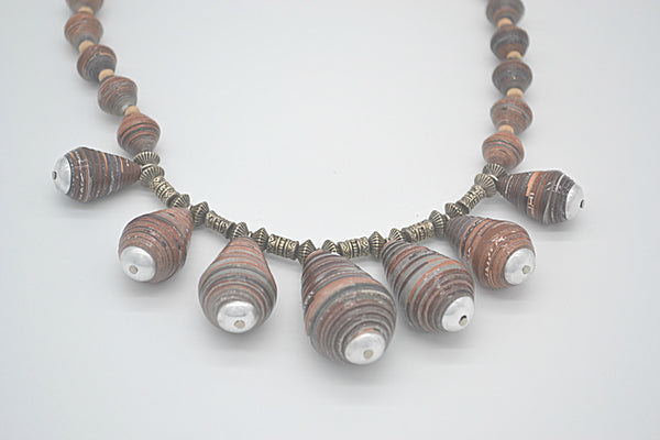 Jhankse Necklace (Mahogany/Brown)