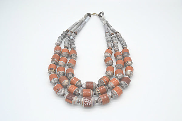 Jhersel Necklace (Mahogany and Gray)