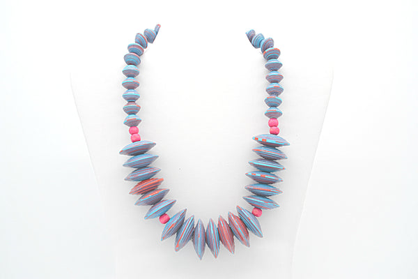 Rea Necklace (Blue and Pink)
