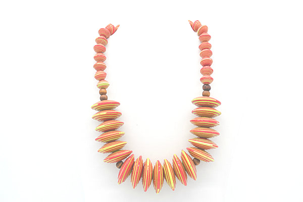 Rea Necklace (Red and Yellow)