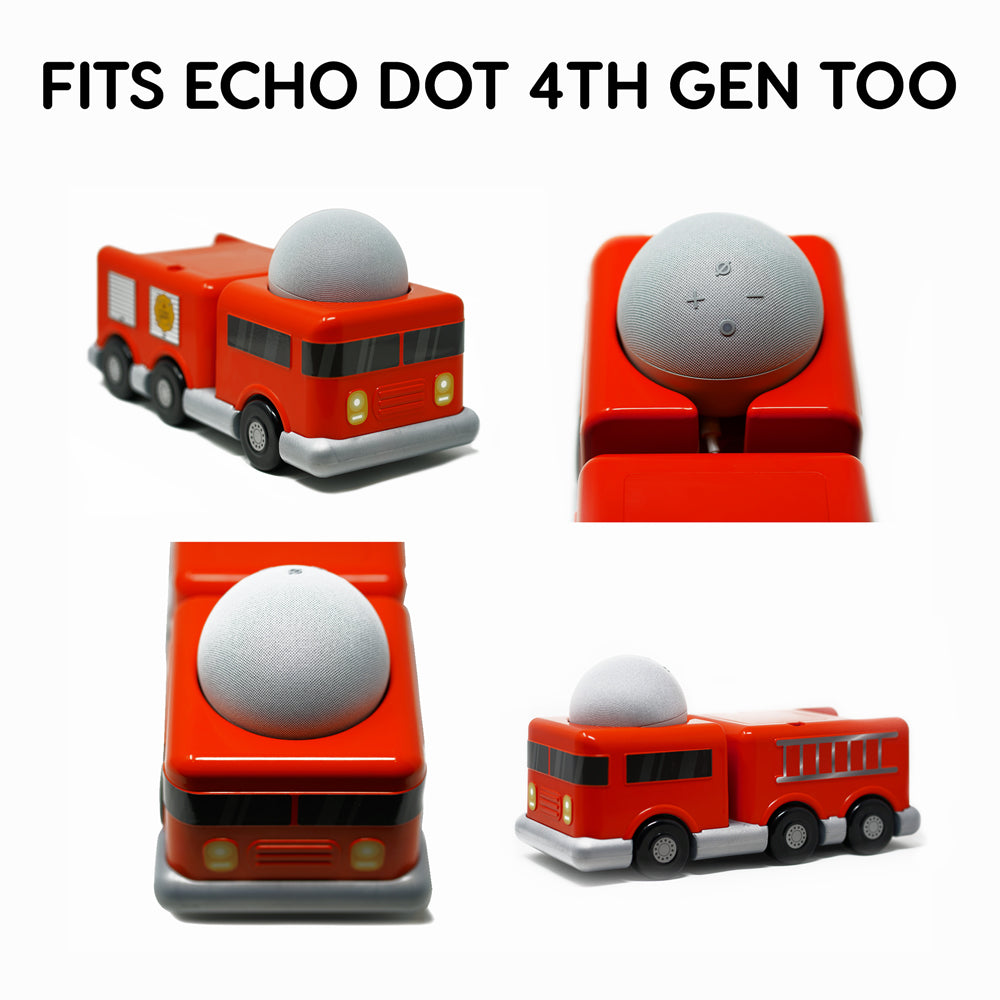 "doqxD 13.5"" Firetruck Toy Stand for Amazon Echo Glow, Echo Dot 3rd Generation"
