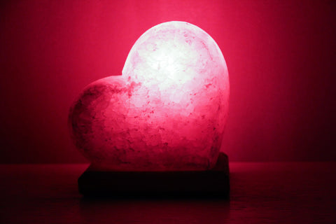 Heart-Shaped Himalayan Pink Salt Lamp