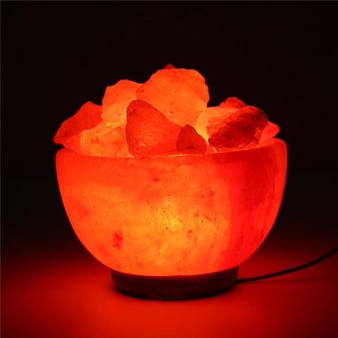 Nightlight salt lamp bowl