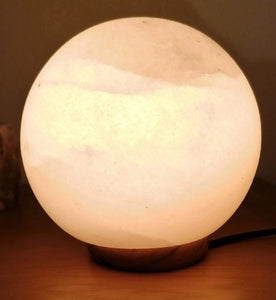 Himalayan White Shpere Salt Lamp