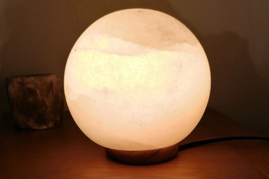 White salt lamps Sphere