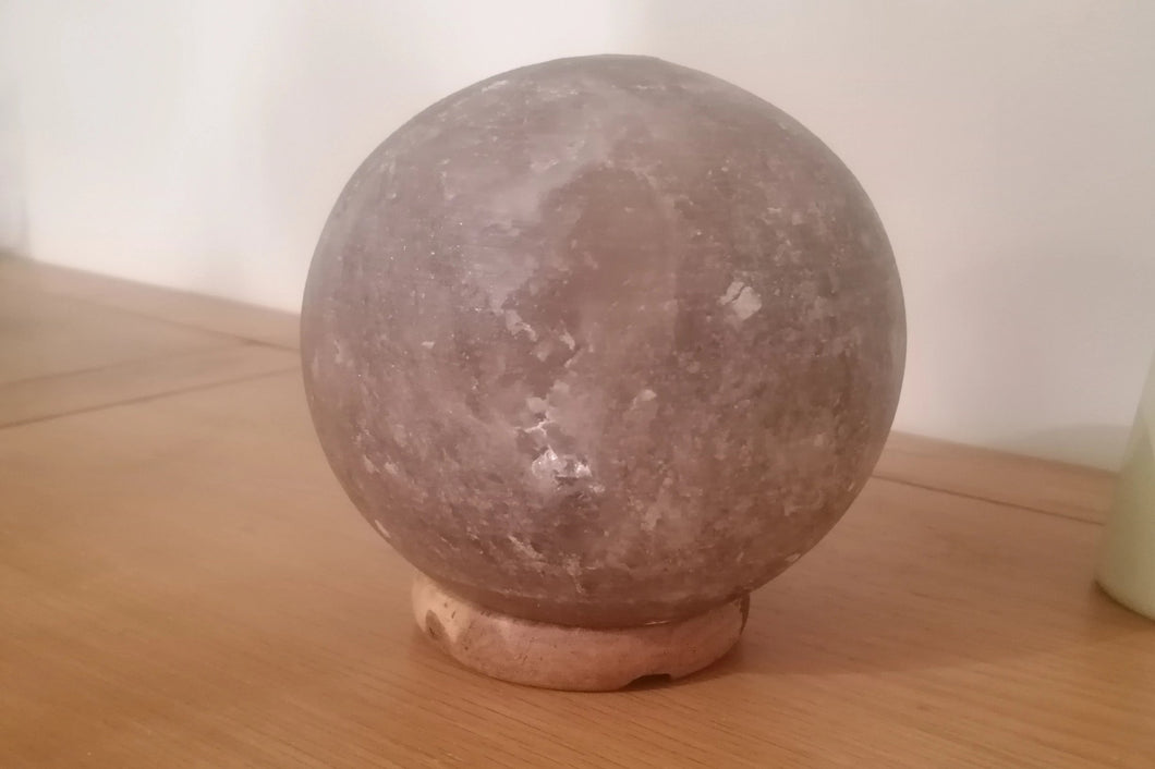 Grey salt lamps Sphere