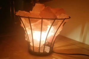 Iron Frame Salt Lamp