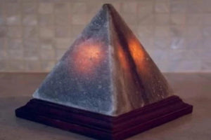 Grey Pyramid Lamp