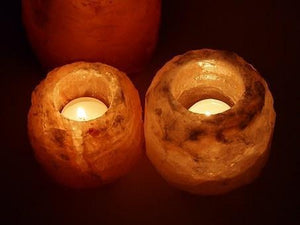 Himalayan salt 2 pack candle holder - Himalayan salt lamps