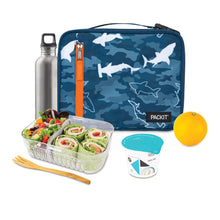 Load image into Gallery viewer, Freezable Classic Lunchbox Bag - Camo Sharks *NEW*
