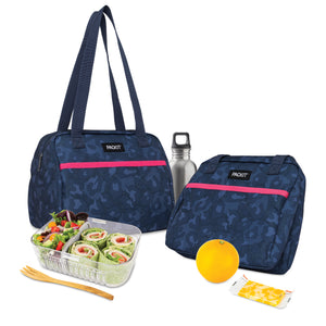 Lunch hampton - Heather Leopard Navy *NEW*