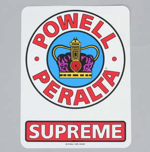 Powell Peralta Supreme Sticker - 3.25""