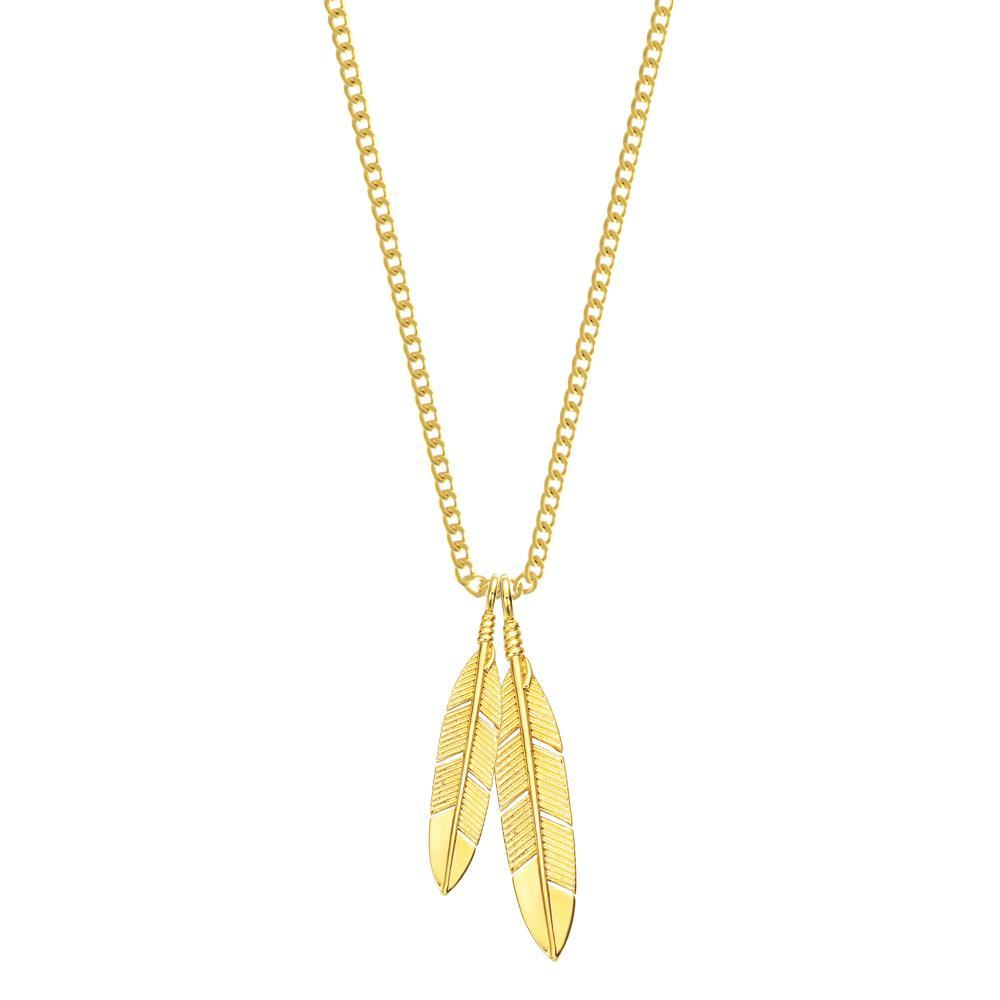 Mister Feather Necklace Gold - 24""