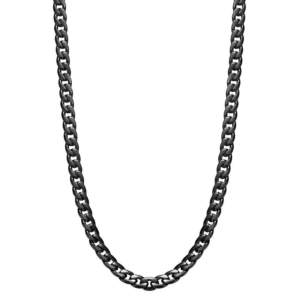 Mister Curb Chain Black - 24""