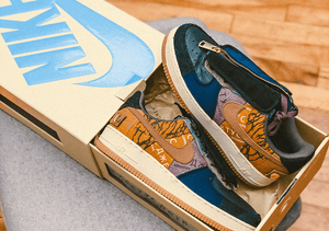 "Nike Air Force 1 x Travis Scott ""Fossil"""