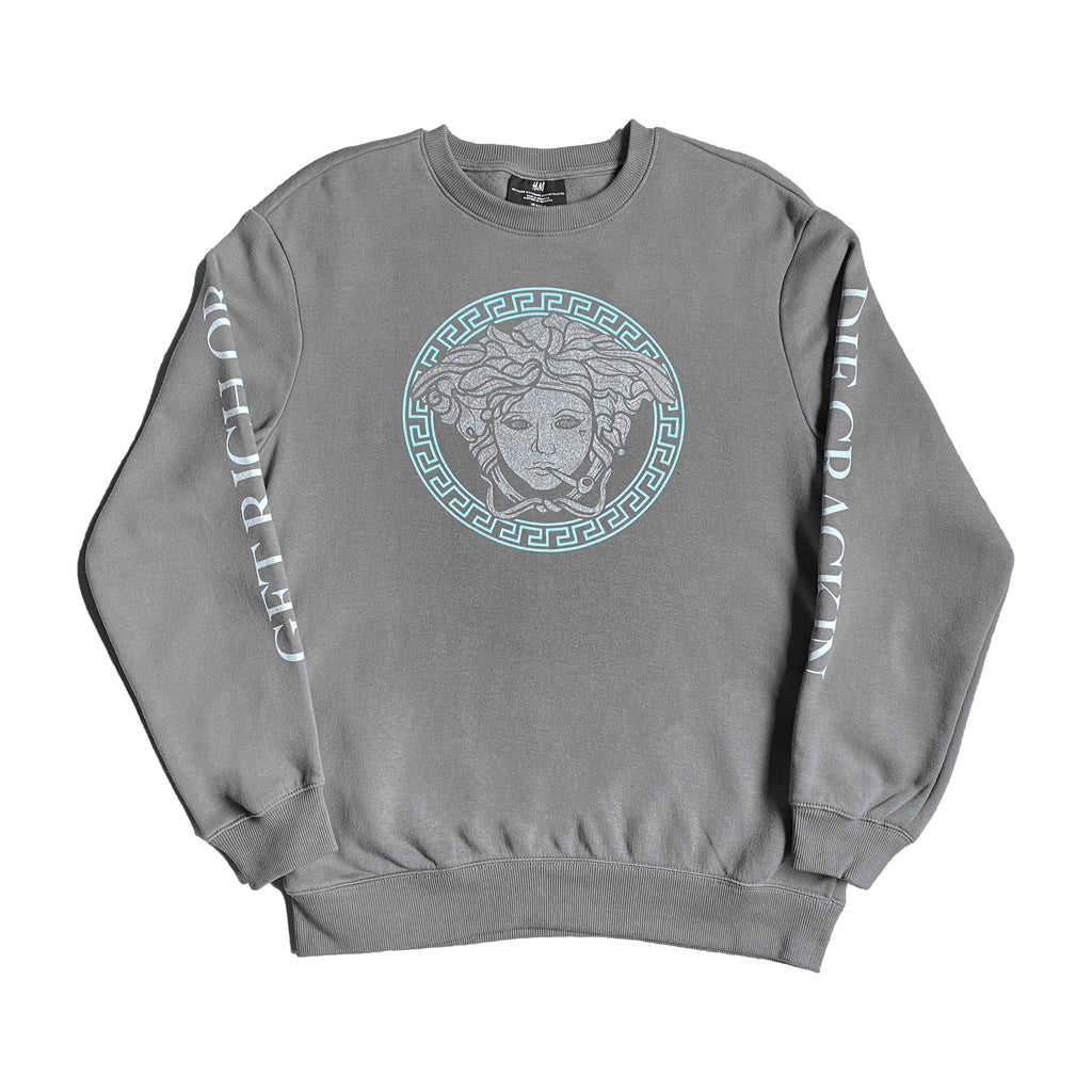 Crack x Cocaine Medusa Crewneck - Gray