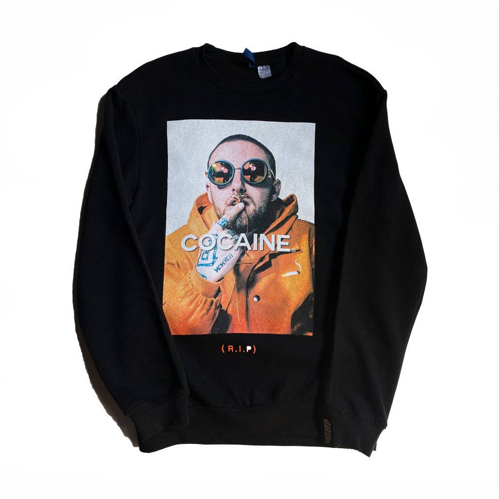 Crack x Cocaine Mac Miller Crewneck - Black