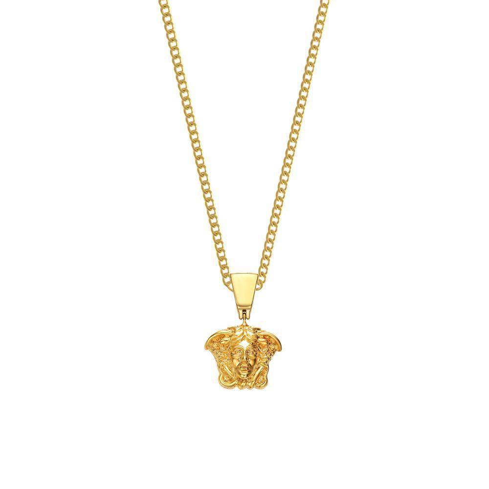 Mister Micro Medusa Necklace Gold - 24""