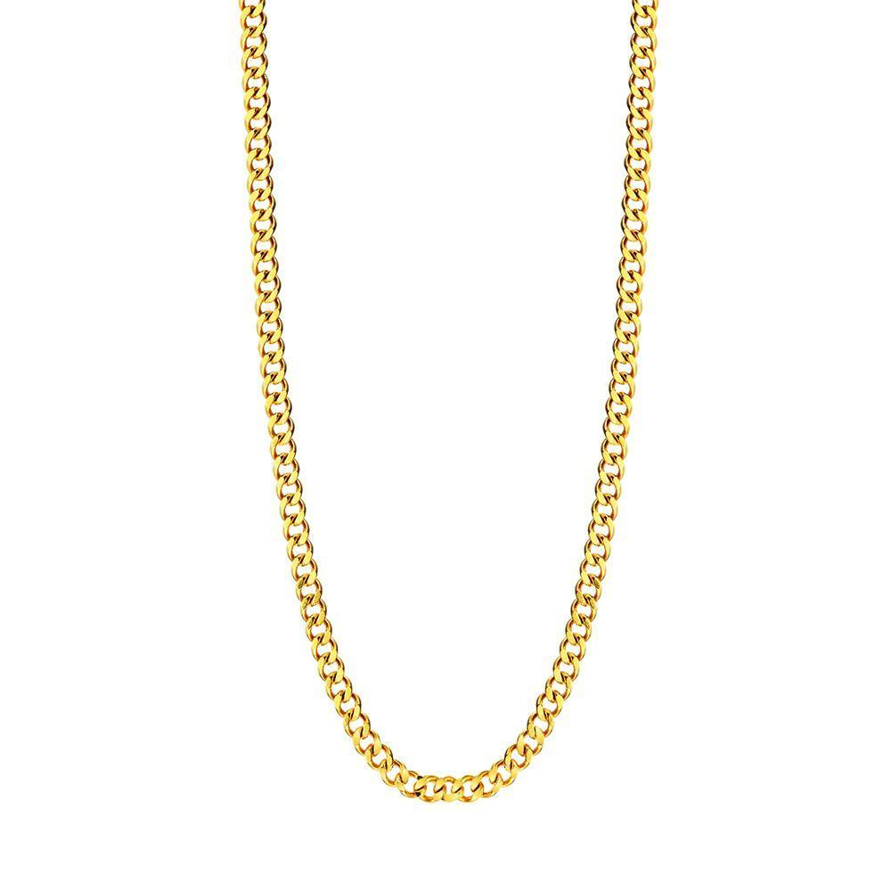 "Mister Curb Link Chain Gold - 24"" (#3)"