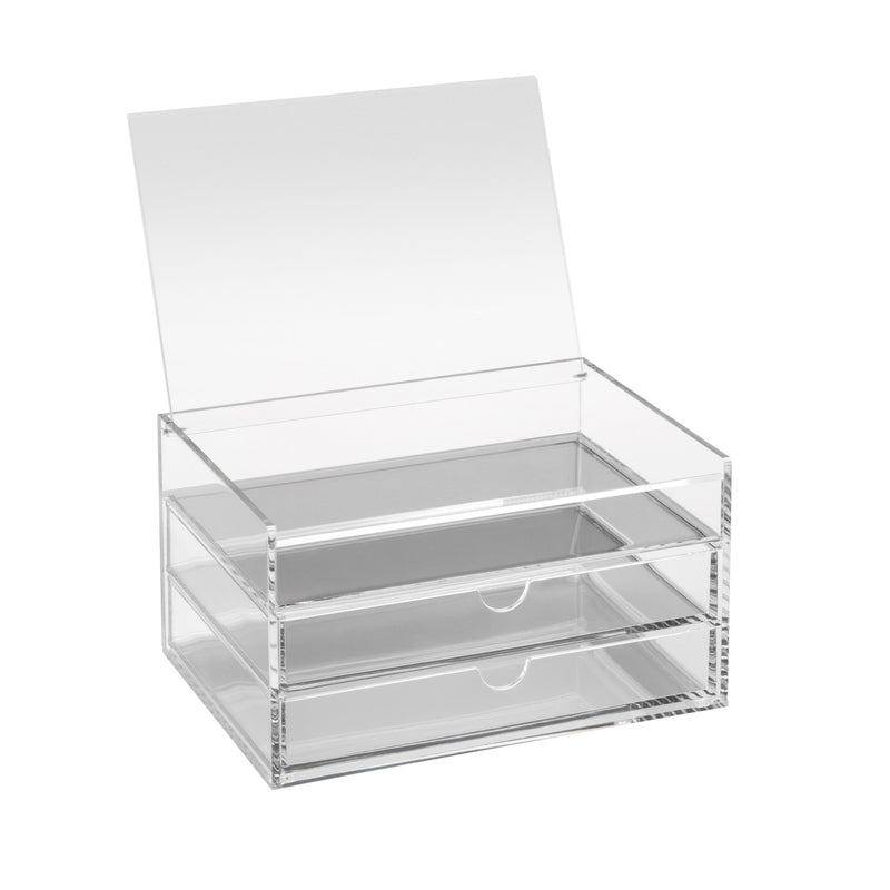 Osco Makeup Storage 3 Tier Acrylic W/Lid