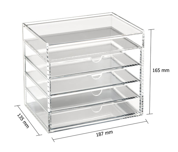 Osco Makeup Storage 5 Tier Acrylic W/Lid