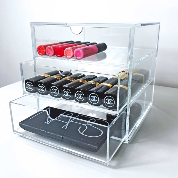 Osco 3 Drawer Acrylic Makeup Storage