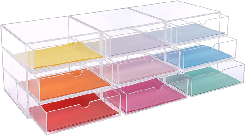 Osco 3 Tier Acrylic Stackable Organisers Makeup Stationary