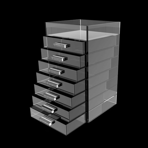 Tallboy Makeup Storage, Made From Acrylic, 8 Tiers and 7 Drawers