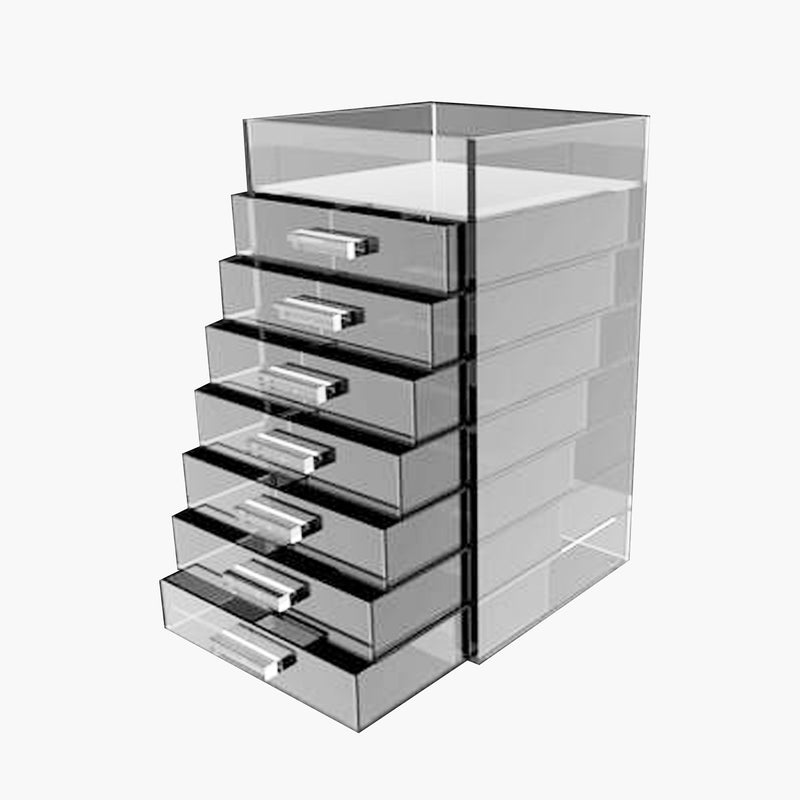 Glamourcube® Tall Makeup Storage With Rectangle Handles