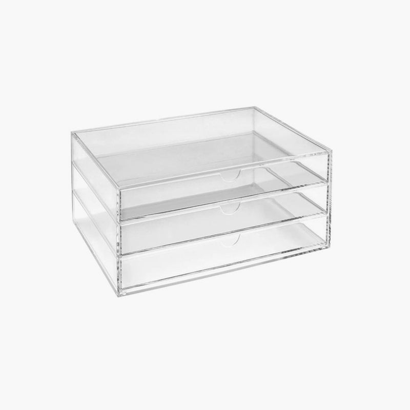Osco Landscape 3 tier Acrylic Makeup Storage Stackable