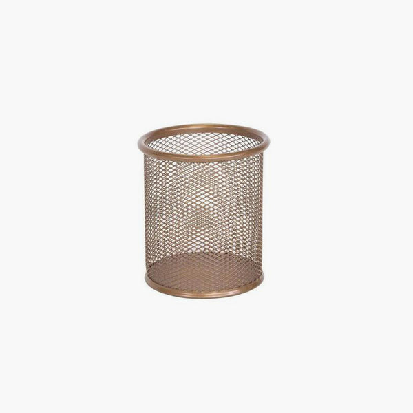 Osco Rose Gold Wiremesh Pen Pot