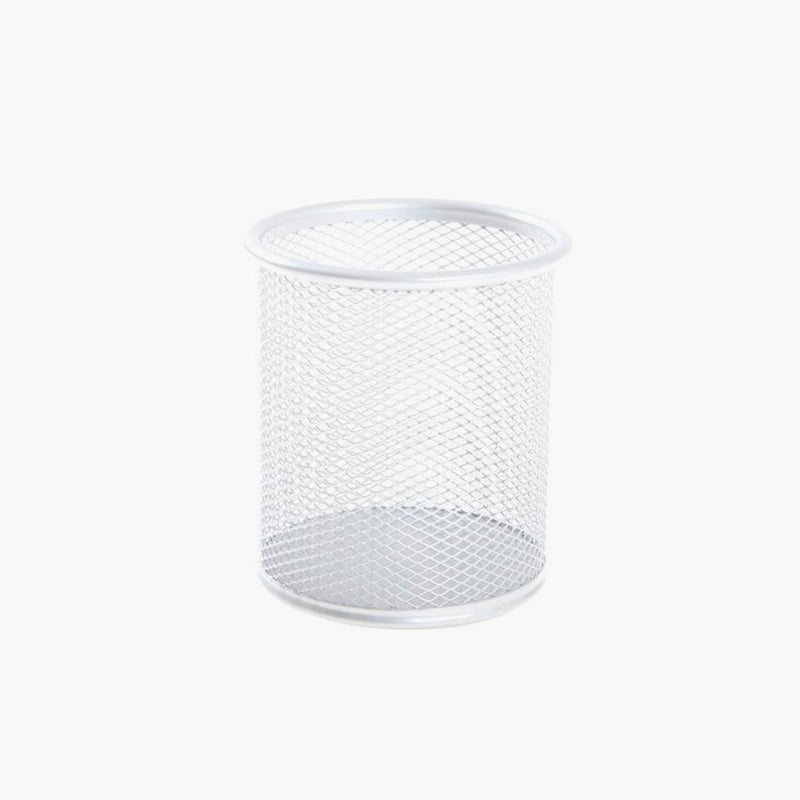 Osco White Wiremesh Pen Pot