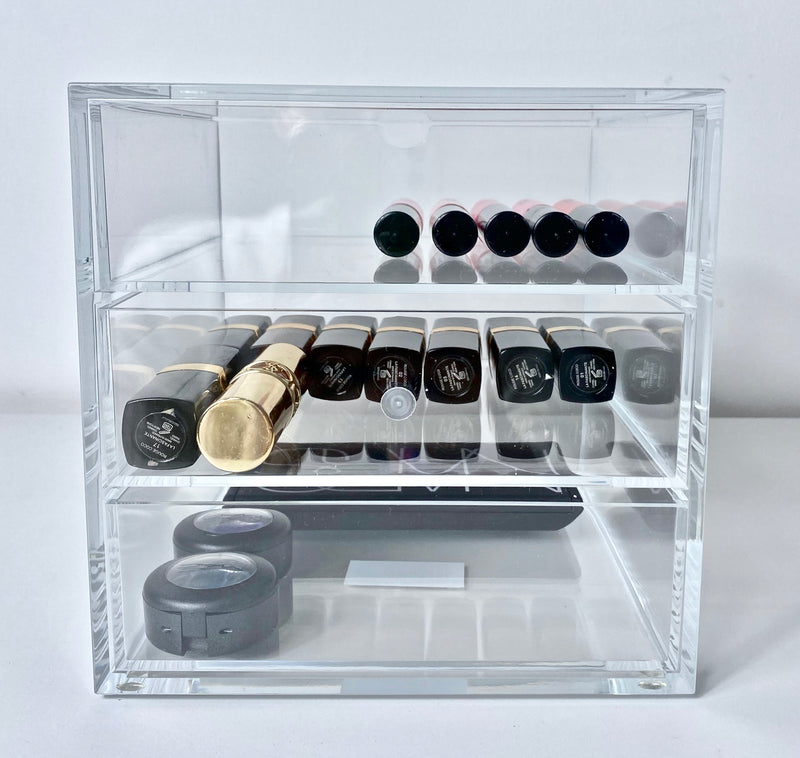 Osco Acrylic Stackable Cube Makeup Back Of Product
