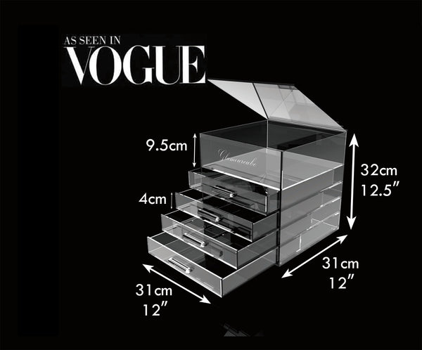 Glamourcube® Original Makeup Organiser With Rounded Handles